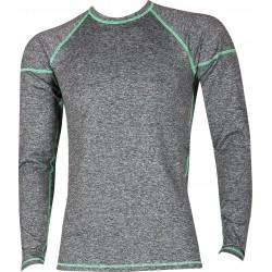 Pánské tričko SOLID 01 - dlhý rukáv - melé - VoXX