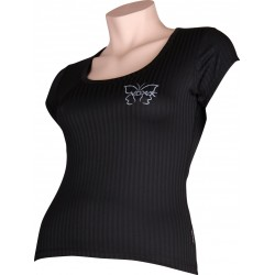 Dámské tričko SELECT 02 - krátky rukáv - čierne - VoXX