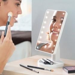 Kozmetické mejkap zrkadlo s LED osvetlením - biele