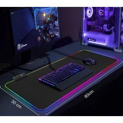 LED svietiaca podložka pod myš a klávesnicu