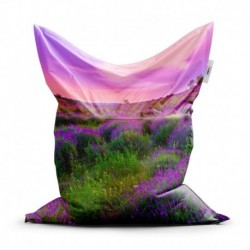 Sedací vak - Levanduľové pole - 150 x 100 cm - Sablio