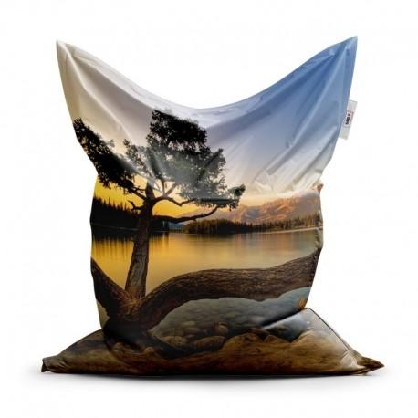 Sedací vak - Strom pri jazere - 150 x 100 cm - Sablio