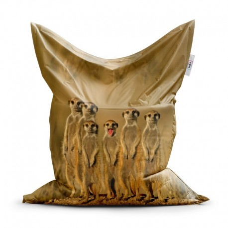 Sedací vak - Surikaty - 150 x 100 cm - Sablio