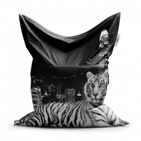 Sedací vak - Mestský tiger - 150 x 100 cm - Sablio